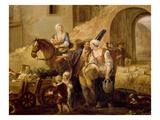 Peasants Leaving a Farm  from Les 4 Heures De La Journée  Le Matin Où Le Départ