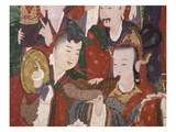 Musicians  from the Guardian Divinities  Coloured Silk  1795  from Temple of Suguk-Sa  Korea