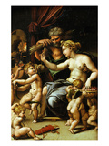 Venus and Vulcan with Eros and Five Putti