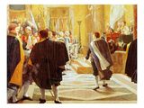 The French Senate Receiving the Flags Captured During the Austrian Campaign  January 1  1806
