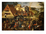 Dutch Proverb Painting  1580