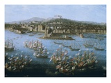 King Charles III of Spain's Naval Fleet at Naples  Italy  October 6  1759