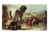 Procession of the Trojan Horse into Troy  C 1760