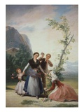 The Flower Sellers or Spring from 4 Seasons Cartoons  1786-7