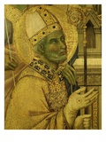 Bishop Saint  from La Maesta (Majesty)  Painted 1308 for High Altar of Duomo (Cathedral)