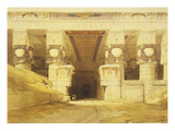 Gate of Temple of Hathor at Dendera  Egypt  1st Century Bc  Lithograph  1838-9
