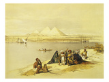 The Pyramids at Giza  Egypt  Lithograph  1838-9