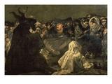 Aquelarre (Escena Sabática) (Witches' Sabbath)  1819-23 Black Painting (Detail)