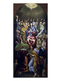 Pentecost  Panel from Altarpiece Commissioned for the Colegio De Dona Maria De Aragon in Madrid