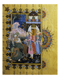 Offering Cloak to Future Bride  Miniature Painting  Early 19th Century  Turkish