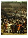 Festival of Federation at Champ De Mars  Paris  France  1790 (Detail)