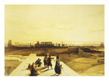 General View of the Temple of Karnak from the West  Egypt  Lithograph  1838-9