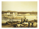 Island of Philae in Upper Egypt  Lithograph  1838-9