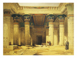 Great Gate of Temple of Isis  Island of Philae in Upper Egypt  Lithograph  1838-9