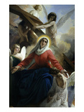 Our Lady of Sorrows 1842 Virgin Mary Mourning Death of Christ with Angels