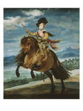 Prince Baltasar Carlos  1629-1646  Equestrian Portrait Set in the Sierra Madrileña  1635-6