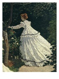 Woman in Spotted Dress  from Femmes Au Jardin  Women in the Garden  1866-67  Detail