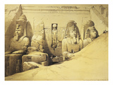Temple of Abu Simbel  13th Century Bc  Fa&#231;ade  Egypt  Lithograph  1838-9