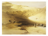 Entrance to the Valley of the Kings  Biban El Muluk  Egypt  Lithograph  1838-9