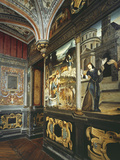 Italianate Mural Paintings and Ceiling  Mid 16th Century Studiolo