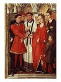 Wedding  from Redemption Triptych  C 1455-59 (Detail)  also Attributed to Vrancke Van Der Stockt
