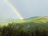 A Large Rainbow over the Shenandoah Valley in Late Afternoon