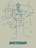 Amsterdam Sérigraphie par LinePosters