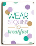 Wear sequins to Breakfast-teal