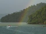 A Rainbow Arches over the Shoreline Near the Esquinas River