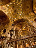The Gilded Domed Ceilings in the Basilica Di San Marco