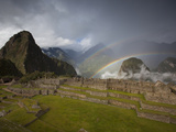 A Double Rainbow Forms Above Machu Picchu