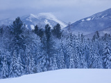 Winter Snow in the High Peaks Region of Adirondack Park