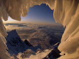 View Through a Snowdrift of the Lechtaler Alps