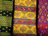 Textiles for Sale at the Black Crane Festival  Gangtey Monastery