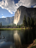 El Capitan Rises Above the Merced River