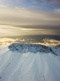 The Snowcapped Crater of Mount Saint Helens