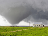 A Powerful Tornado Approaches a Church and Just Misses Hitting It