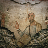A 4th-Century Fresco of the Apostle Paul Preaching