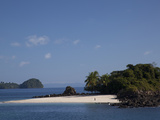 The White Sands of Granito De Oro Island Edge into the Pacific