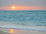Sunset in Paradise over the Caribbean and on a Beach Papier Photo par Mike Theiss