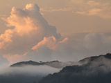 A View of Golfito Deep Shrouded in Mist and Clouds