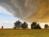A Storm Chaser Watches a Massive Supercell Thunderstorm in Tornado Alley