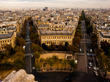 View of Paris from the Top of the Arch of Triumph