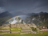 Two Rainbows Form Above the Ruins of Machu Picchu