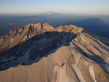The Crater of Mount St Helens Flanked by Mount Adams