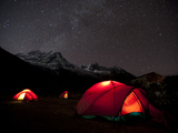 Glowing Tents at Samogaon on the Manaslu Circuit Trek