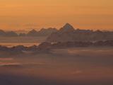 Wetterspitze Mountain in the Lechtaler Alps at Dusk