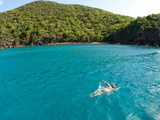 An Open Water Swimmer Off the Coast of Guana Island