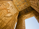 A Detail of Columns and Ceiling at Medinet Habu