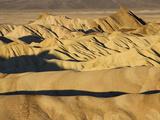 Rugged and Ridged Landscape at Zabriskie Point  Death Valley